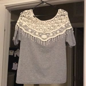 Tops - lace top t-shirt
